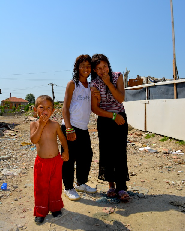 Faces of the roma camp.