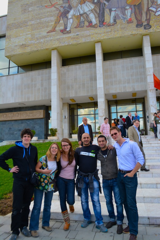 First ever go tirana walking tour.